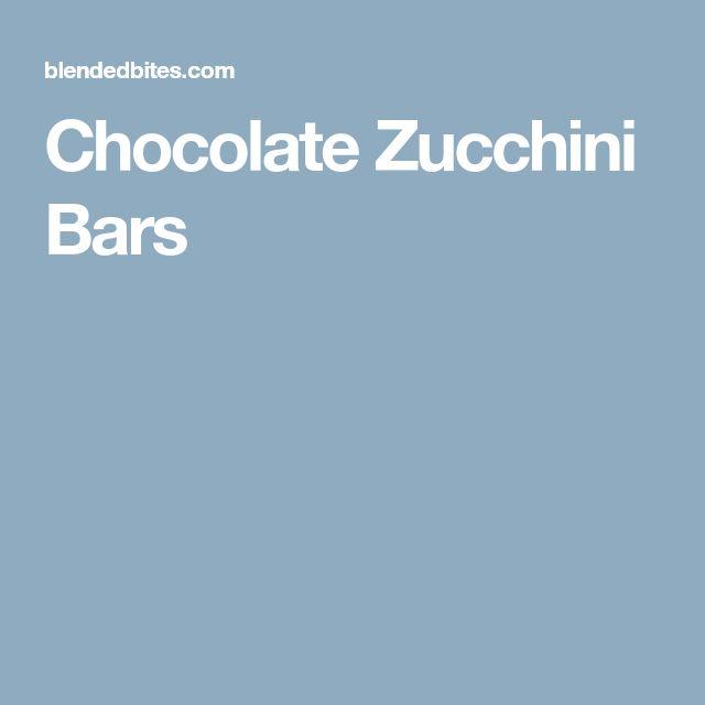 Chocolate Zucchini Bars