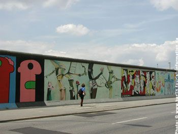 Berlin Wall - a sorry reputation around the world for almost 30 years. What little remains of it can be seen in the East Side Gallery, on Bernauer Straße, next to the Preußischer Landtag and in Prenzlauer Berg. Berlin has long since emerged from the shadow of the Wall, however.  The East Side Gallery is the world's longest open air gallery and, with 1,316 m, is also the longest remaining part of the Berlin Wall? The section was painted by 118 artists from 21 countries with 101 works.