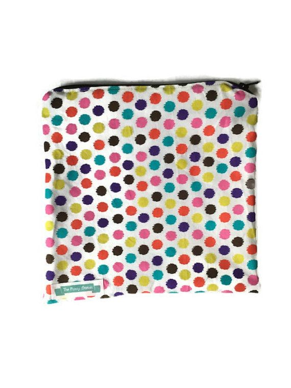 Travel toiletry bag travel makeup bag wet bag by TheFuzzyStitch