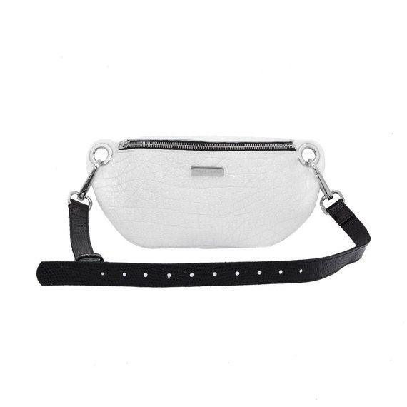 Fanny Pack, Leather waist bag, black and white leather fanny pack #FannyPack #Accessories #MustHave #bum bag