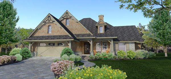 The Piccolo Favorevole House Plan from The House Designers is a 1,764 Sq. Ft. cozy cottage with attached garage. To see the actual floor plans for this home, click here: http://www.thehousedesigners.com/plan/piccolo-favorevole-3271/