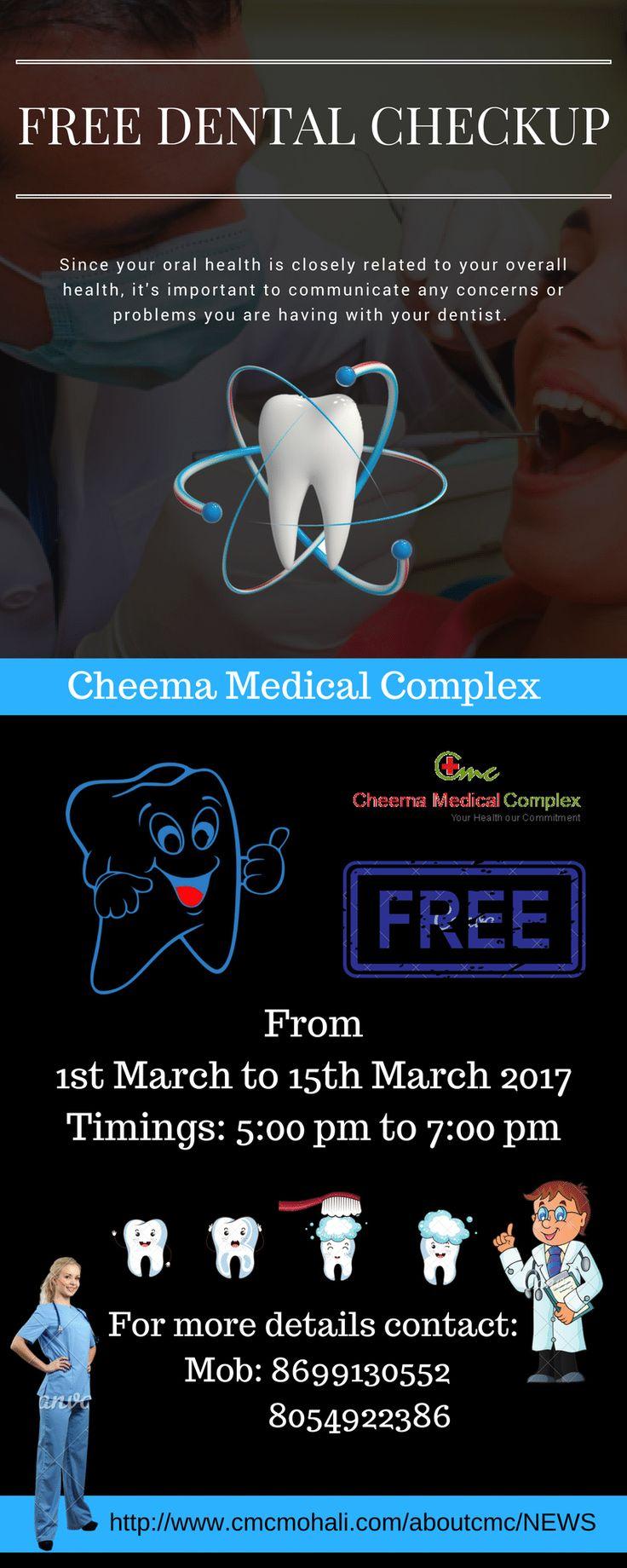 Best Offer #CMCMohali - Free #Dental #CheckUp