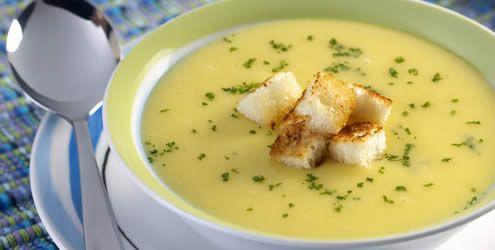 Receita de sopa de mandioquinha