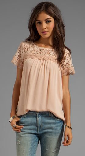 I can NEVER have enough blush tops!