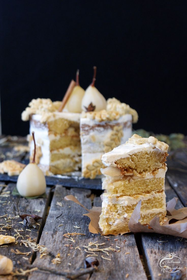 Intrusa na Cozinha: Pear & Ginger Semi Naked Cake