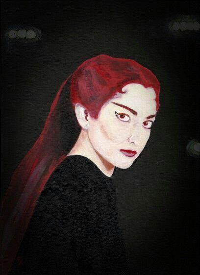 Kostas Giannopoulos (1975-), Callas as Medea, acrylic on panel canvas