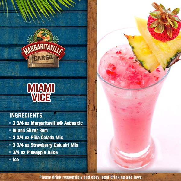 It's #NoInterruptionsDay, so on this last work day of the year let's kick back, relax, and enjoy an uninterrupted glass of Miami Vice! For complete recipe click on the image!