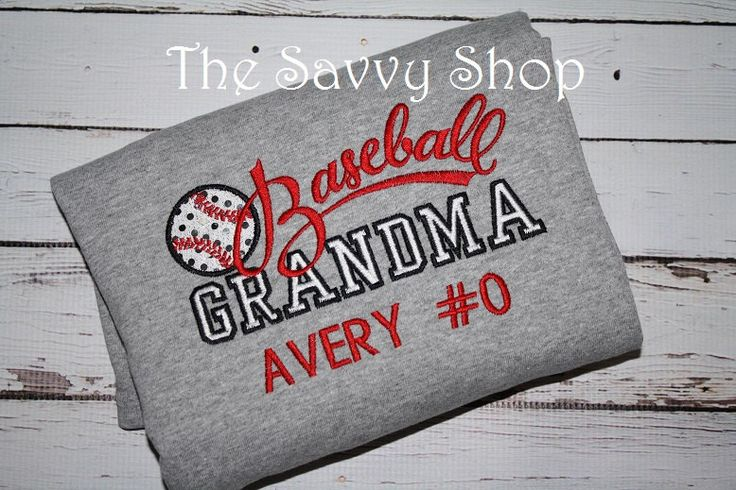 Baseball Grandma Shirt - Baseball Shirt - personalized ...