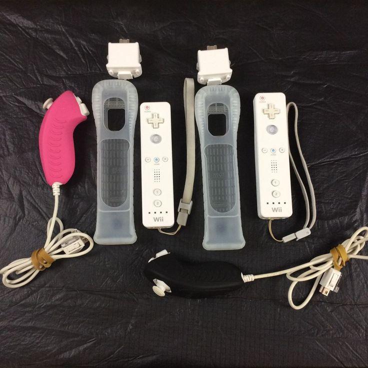 Wii Controller Bundle 2 Wiimote 2 Nunchuk 2 Wii Motion Plus 2 Silicone Skins | eBay