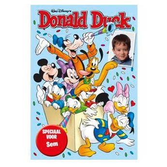 Donald Duck Feest Magazine, een magazine waarin jij een rol in kunt spelen! Een ultieme verrassing op bijvoorbeeld iemands verjaardag. Ga mee op avontuur!  #DonaldDuck #boeken #lezen #Personalgifts