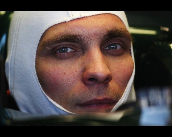 Vitaly Petrov of Russia and Caterham prepares to drive during day one of Formula One winter testing at the Circuit de Catalunya on March 1, 2012 in Barcelona, Spain.