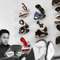 Put your sneakers on display in any room with the Shrine Sneaker Wall Rack.@Jamie Wise-Lee Ringrose for Mikel!