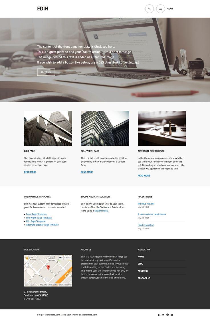 40 Best Wordpress Themes Images On Pinterest Blogging Wordpress
