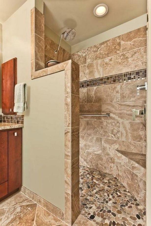 Doorless Shower Ideas Walk In 15 Master Bathroom Shower Shower Remodel Bathroom Renovations