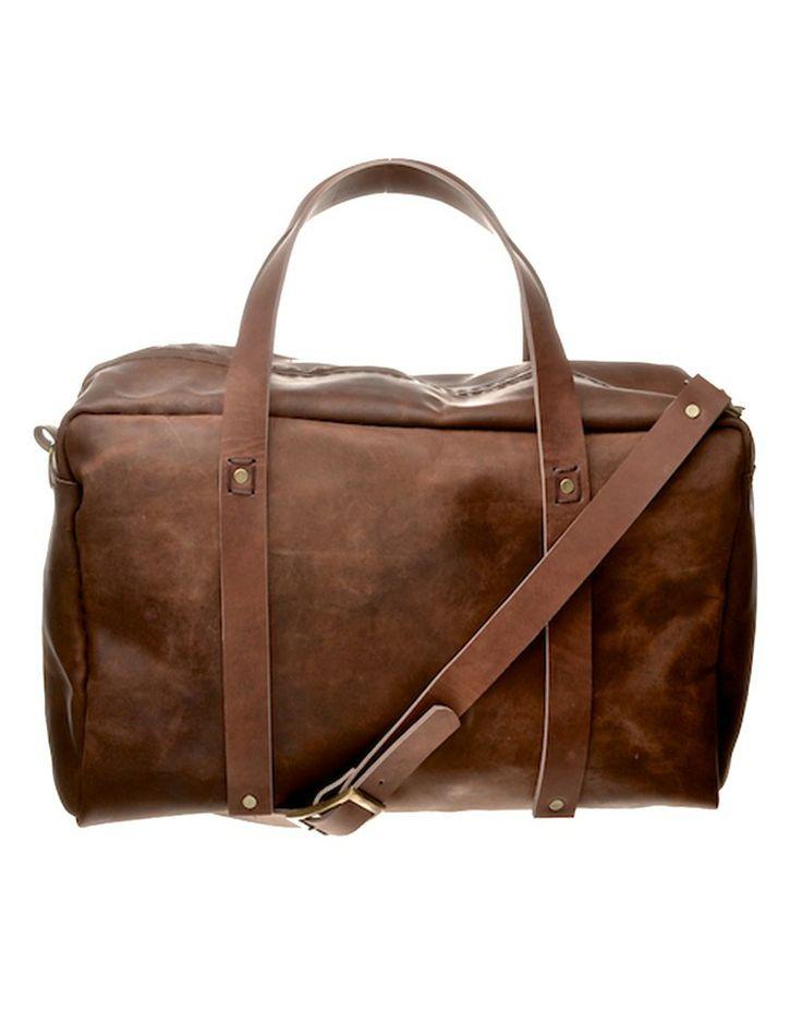 Leather Weekender Bag in Brown ILUNDI