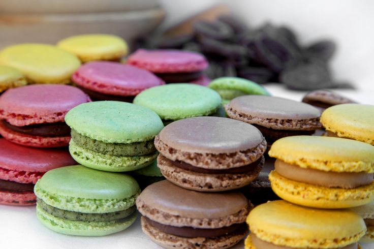 """MACAROONS White chocolate, almonds, whipped cream and eggwhites are the basic ingredients for a delicate and delicious Macaroons! Try to bake them at home and impress your friends. The recipe you can find in our cookbook """"Osm chutí Asie""""!"""