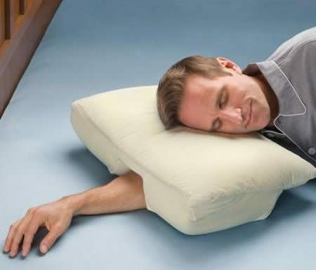 This would be super handy! I sleep like that and sometimes wake up with a really sore arm.