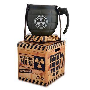 Novelty Grenade Coffee Mug - Green Tea Cup Ceramic Funny Gift Radioactive Xmas  | eBay