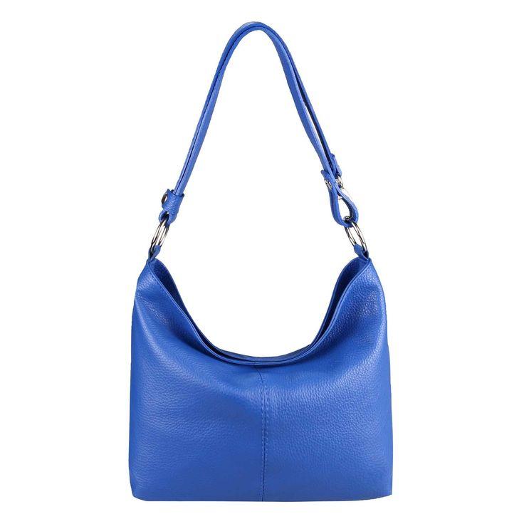 ITAL DAMEN LEDER TASCHE Shopper Schultertasche Umhängetasche Hobo Bag Ledertasche Handtasche Königsblau – Italyshop24.com