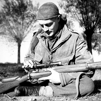 Sergeant H.A. Marshall of The Calgary Highlanders Kapellen, Belgium, 6 Oct1944