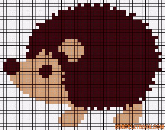 Hedgehog perler bead pattern
