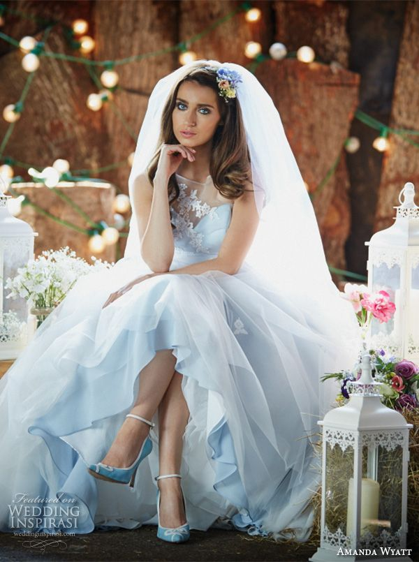 blue floral wedding dresses - Google Search