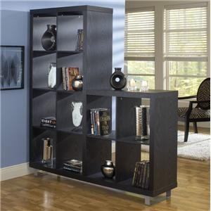 L Shaped Black Bookcase As Room Divider Libraries