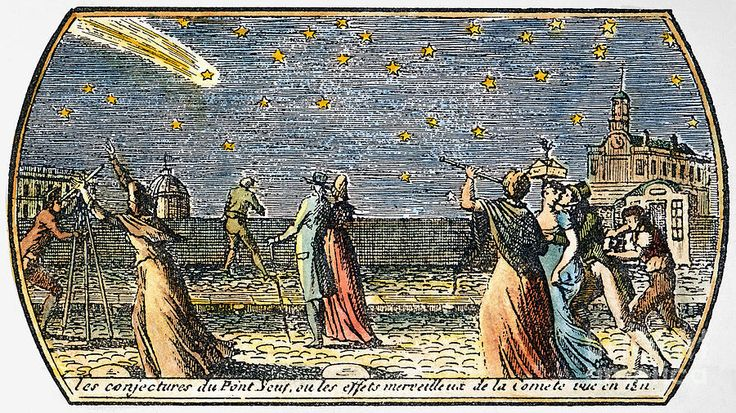 Comet of 1812, seen from the Pont Neuf in Paris (Granger)