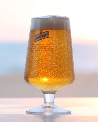 San Miguel beer. Lovely Spanish pilsner.