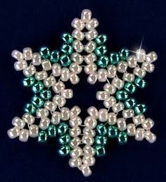 Free Beaded Christmas Patterns | ... Free Bead Patterns and Ideas : Snowflake #93 Ornament - Free Pattern