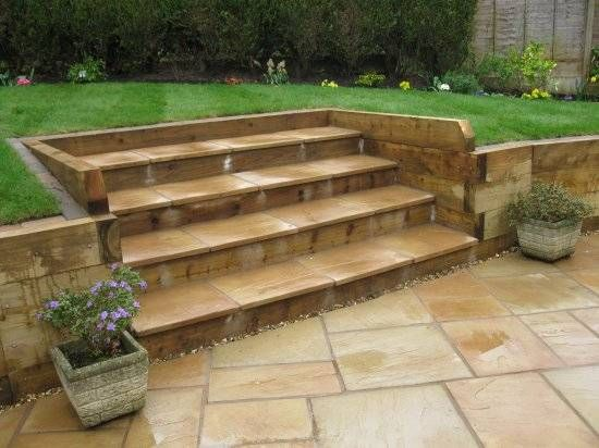 24 best images about side patio on pinterest gardens for Garden design using railway sleepers
