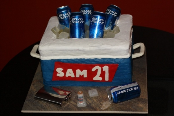 21= Birthday Cake: Cupcakes Ideas, Ice Cubes, 21 Birthday Cakes, Birthdays, Men Birthday Cakes, Names Signs, 21St Birthday Cakes, Beer Cans, Birthday Ideas