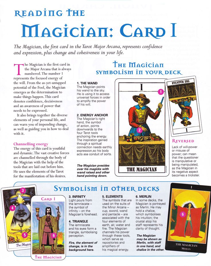Reading the Magician card