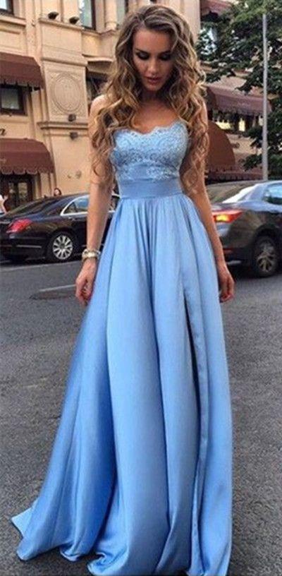 blue prom dresses,long prom dresses,lace prom dresses,simple prom dresses,elegant prom dresses  @simpledress2480