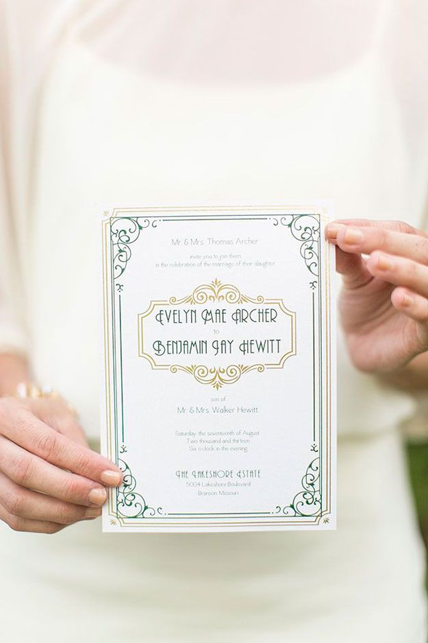 Modern vintage : How to create the perfect Art Deco wedding with a modern twist - Statement font | CHWV