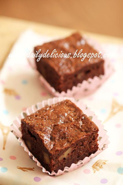 dailydelicious: Banana Nut Brownies: One sauce pan, one baking pan and many happiness!