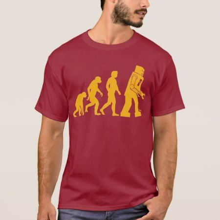 Robot Evolution Sheldon Cooper Big Bang Theory T-Shirt - click to get yours right now!