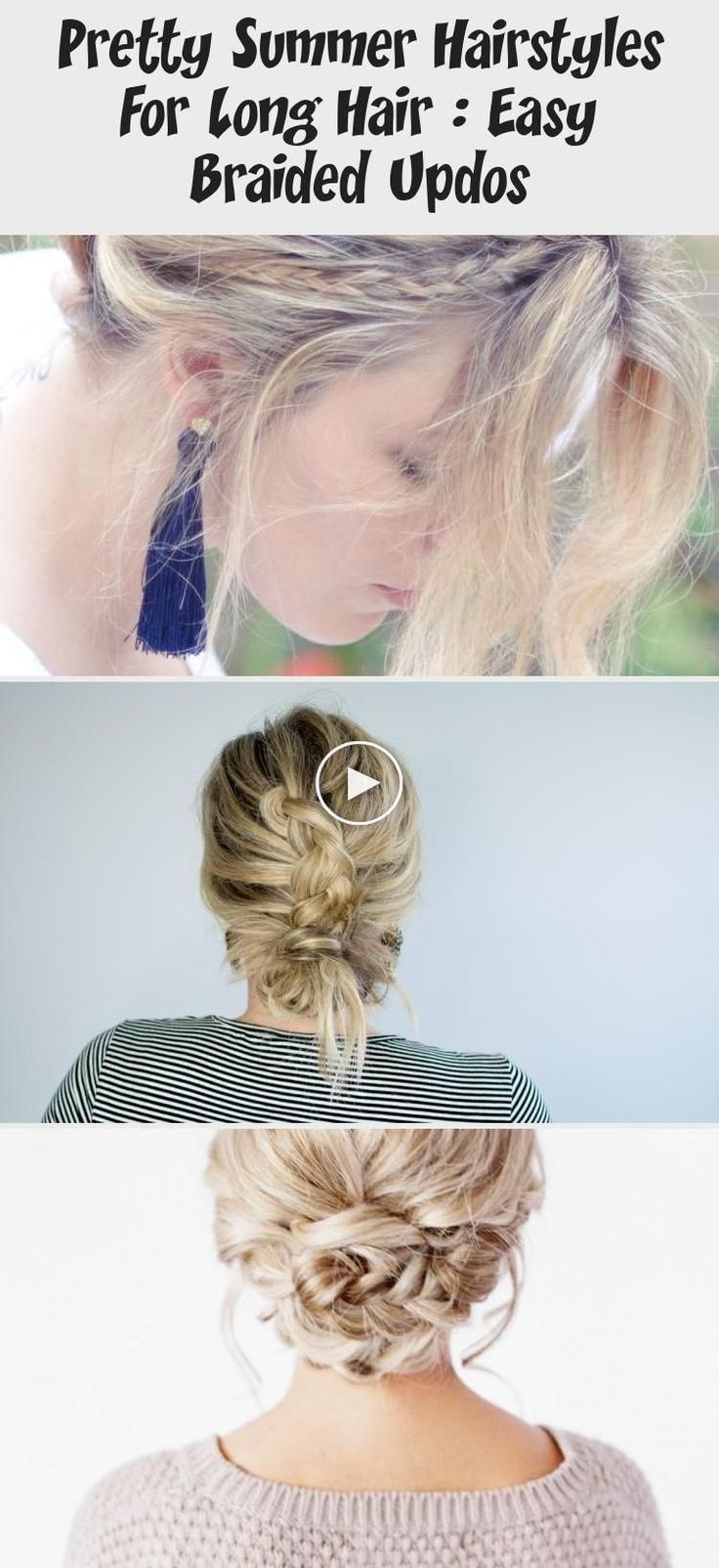 Mooie zomerse kapsels voor lang haar: Gemakkelijke gevlochten Updos - Kapsel,  #gemakkelijke #gemakkelijkekapselslang #gevlochten #haar #Kapsel #kapsels #lang #Mooie #Updos #voor #zomerse