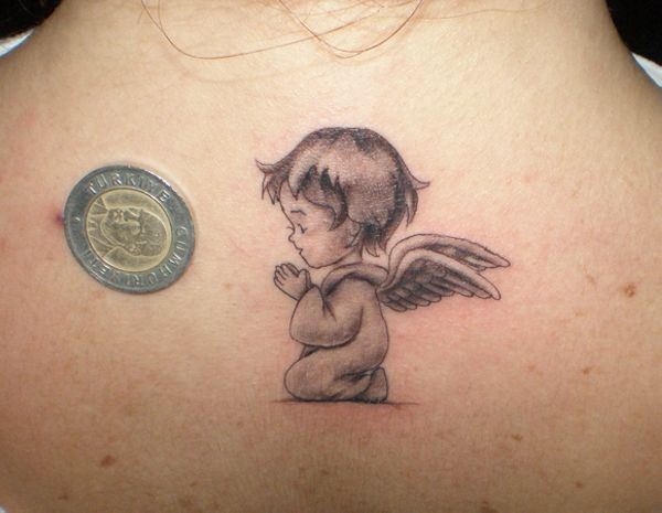 Praying Baby Angel Tattoos