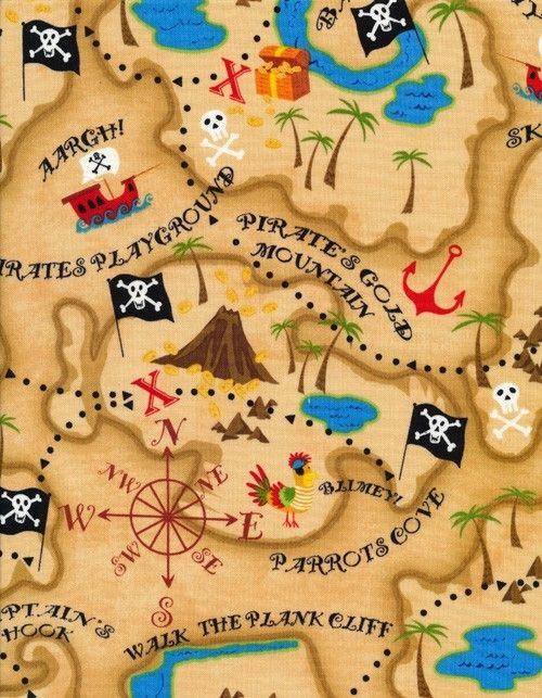 free printable pirate treasure map - Google Search