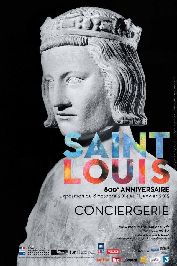 Saint Louis à la Conciergerie : Affiche.