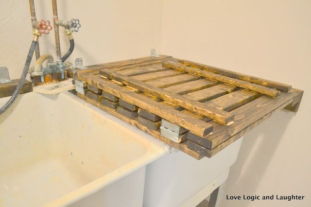 Laundry Tub Cover : Utility Sink Cover Tutorial How to fix or do stuff Pinterest ...