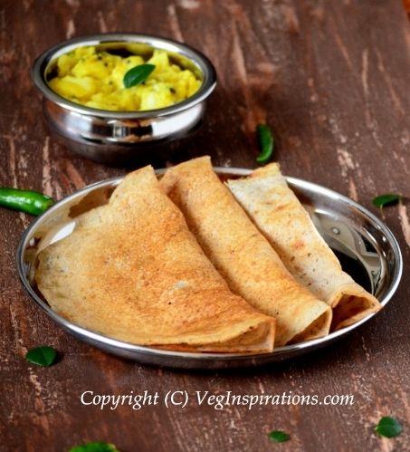 Instant Buckwheat dosai ~ Savory Indian crepes ~ Kuttu atta dosa