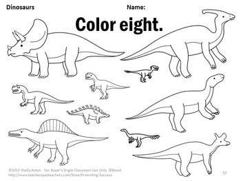 dinosaur math worksheets kindergarten coloring sheets counting 1 10 centers