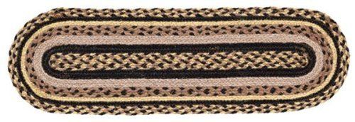 "Colfax Jute Stair Tread Oval 8.5x27"" by Victorian Heart. $11.20. Extensive line of matching items and accessories available! (Search by Collection name). High end quality and workmanship!. See Product Description below for more details!. All cloth items in our collections are 100% preshrunk cotton. All braided items (like rugs, baskets, etc.) are 100% jute. Product measurements and additional details listed in title and/or Product Description below.. 100% Jute"