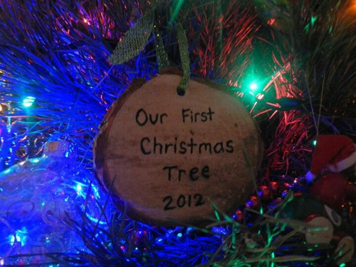 Bottom of first christmas tree in our first home together :)