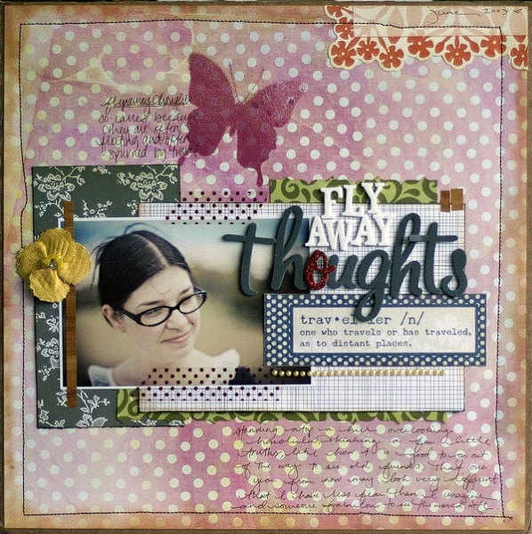 stick with the same font, but substitute a different colour for just one letter.Inspiration Scrapbook, Fabulous Layout, Layout Cards Papercraft, Scrapbook Inspiration, Scrapbook Layout, Fly Away, Theme Projects, Letters Stickers, Papercraft Inspiration