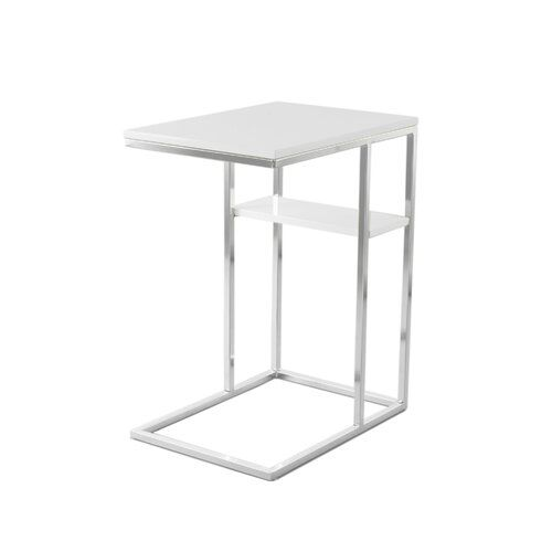 Becerra Side Table Canora Grey Frame Colour White Silver Side Table