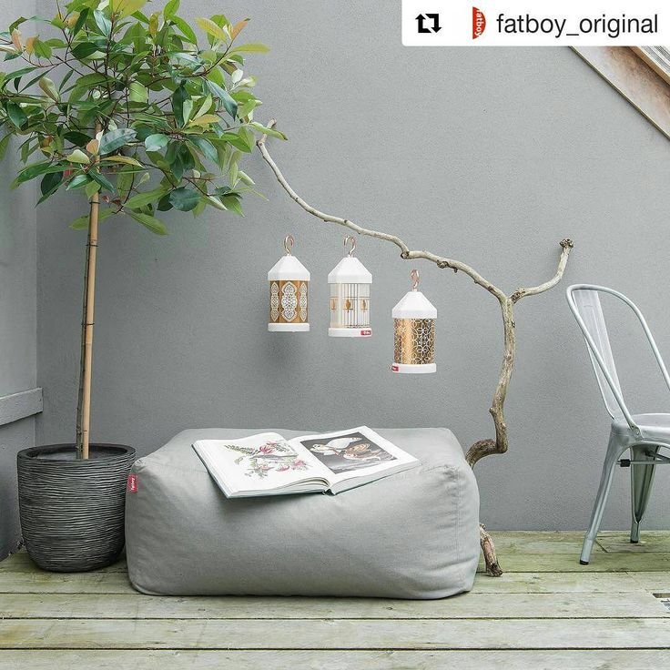 Cozy Relaxing Is Coming True With This #beanbag And Warm #lighting    Credits Fatboy