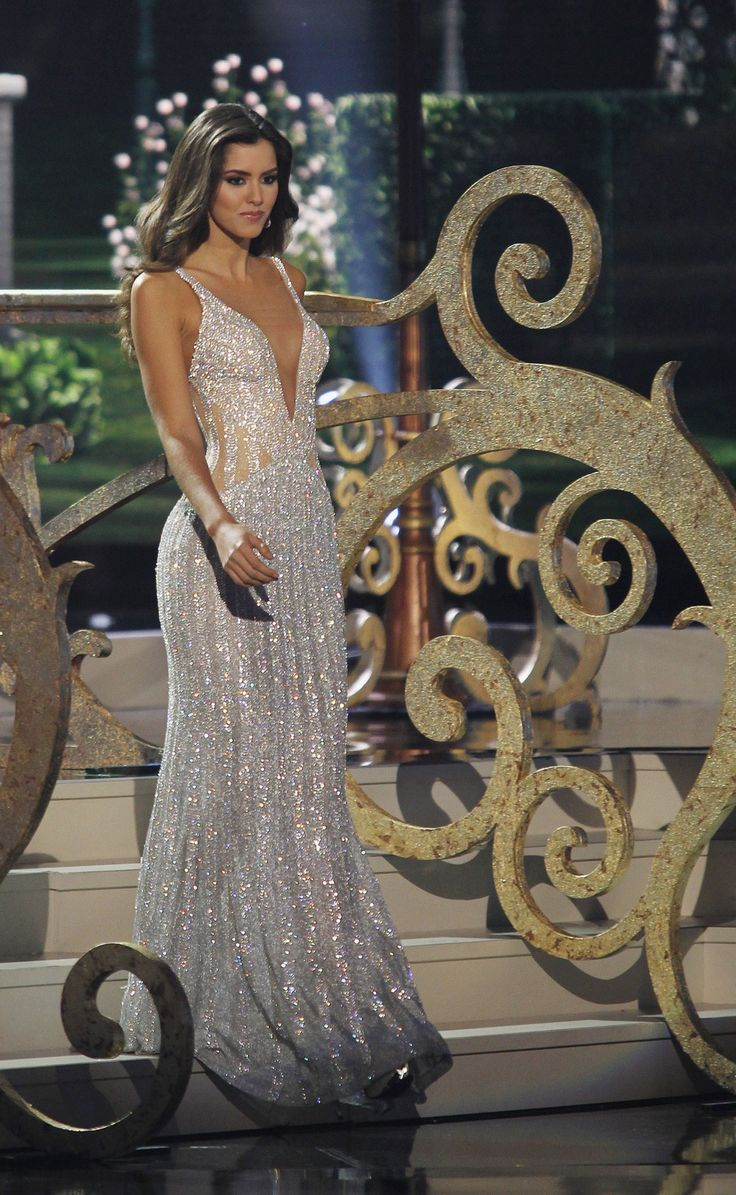 """"""" Miss Colombia, Paulina Vega, the reigning Miss Universe, is seen earlier during the evening gown portion of the 63rd Annual Miss Universe Pageant in Miami, Florida, January 25, 2015. """""""